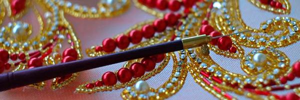 Люневильский металлический, крючок с деревянной ручкой