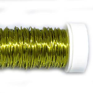 Проволока цветная лайм,0,5мм, 25г