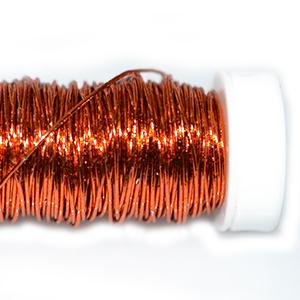Проволока цветная оранжевая,0,5мм, 25г