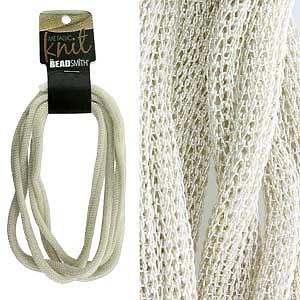 Ювелирная сетка Metallic knit silver