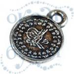 Подвеска металлизированная 3801 silver