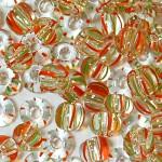 Бисер прозрачный полосатый 00951