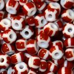 Бисер керамика полосатый 03910