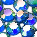 Стразы клеевые Light Sapphire AB
