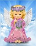 Ангелок с розами