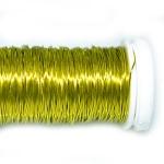 Проволока цветная жёлтая, 0,3 мм, 25г